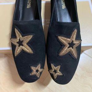 Miichael Kors Star Embroider Flats, Loafers